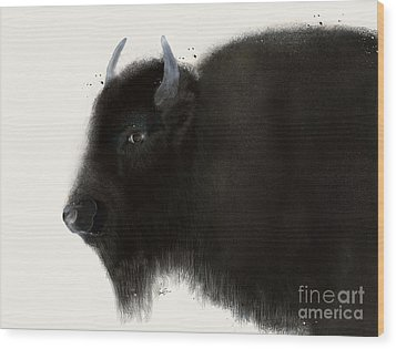 Wood Print featuring the painting American Buffalo by Bri B