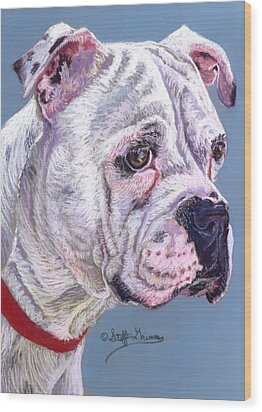 American Bulldog Wood Print by Stephanie Grimes