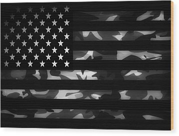 American Camouflage Wood Print by Nicklas Gustafsson
