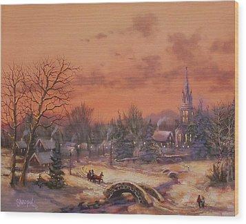 American Classic Wood Print by Tom Shropshire
