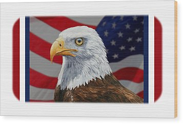 American Eagle Phone Case Wood Print by Crista Forest