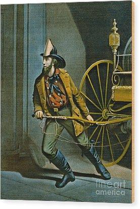 American Fireman 1858 Wood Print by Padre Art