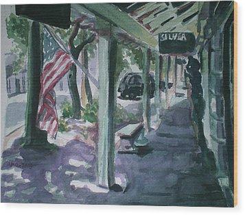American Flag Wood Print by Aleksandra Buha