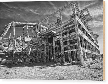 Wood Print featuring the photograph American Flat Mill Virginia City Nevada by Scott McGuire