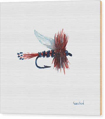 American Fly Wood Print by Sean Seal