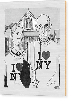 American Gothic Wood Print by Marisa Acocella Marchetto