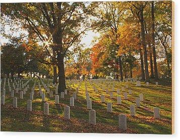 American Heroes Wood Print