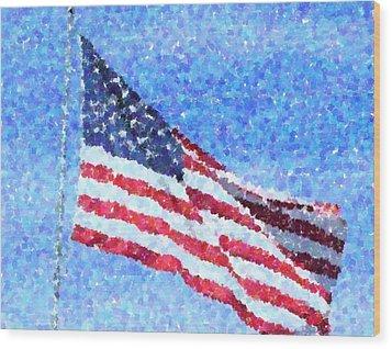 American Honor Wood Print by Cheryl Waugh Whitney