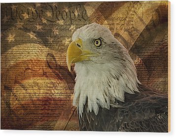 American Icons Wood Print