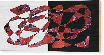 American Intellectual 6 Wood Print by David Bridburg