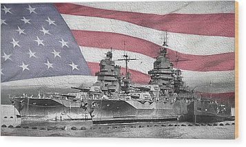 Wood Print featuring the digital art American Naval Power by JC Findley