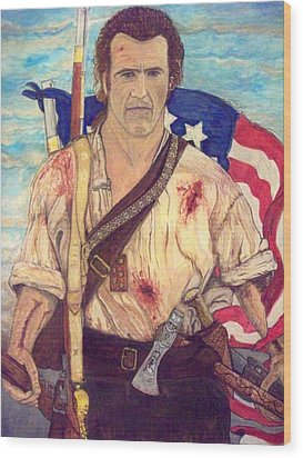 American Patriot Wood Print by Jose Cabral