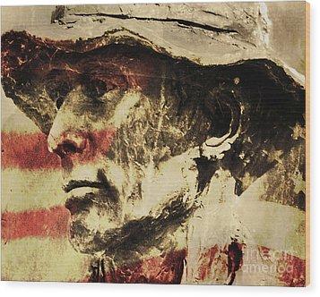 American Patriot Wood Print