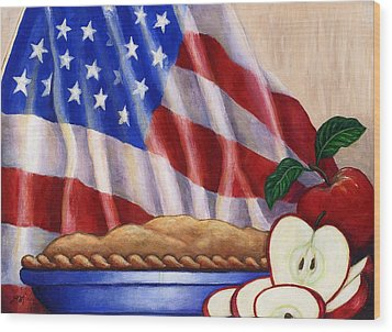 American Pie Wood Print by Linda Mears