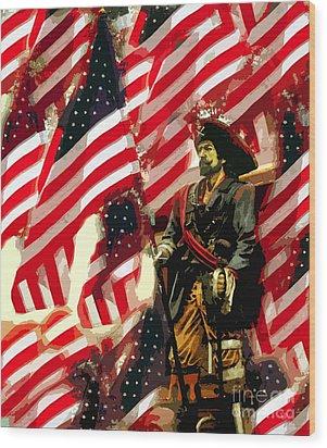 American Pirate Wood Print by David Lee Thompson