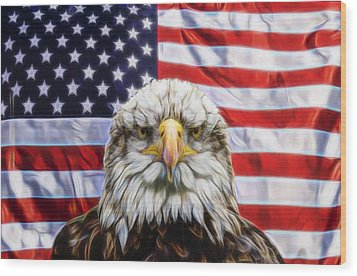 Wood Print featuring the photograph American Pride by Scott Carruthers