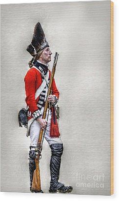 American Revolution British Soldier  Wood Print by Randy Steele