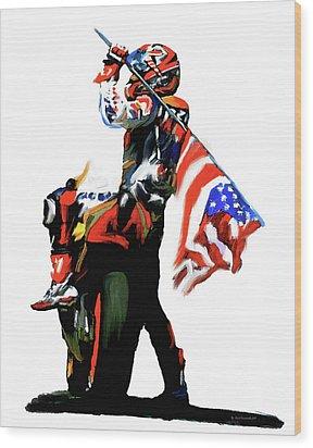 American Revolution Four Nicky Hayden Wood Print