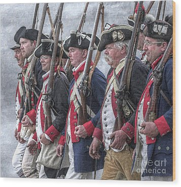 American Revolutionary War Soldiers Wood Print by Randy Steele