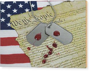 American Sacrifice Wood Print by Maria Dryfhout