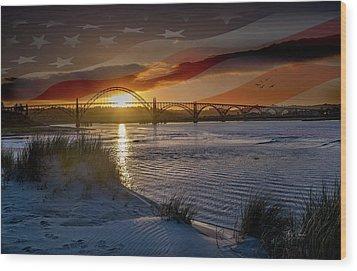 American Skies Wood Print