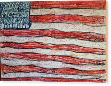 American Social Wood Print by Paulo Guimaraes