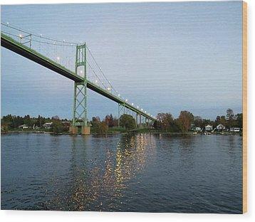 American Span Thousand Islands Bridge Wood Print