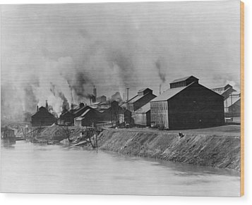 American Steel And Wire Plant Wood Print by Everett
