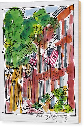 American Street Philadelphia Wood Print