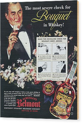 American Whiskey Ad, 1938 Wood Print by Granger