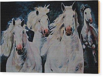 American White Wood Print