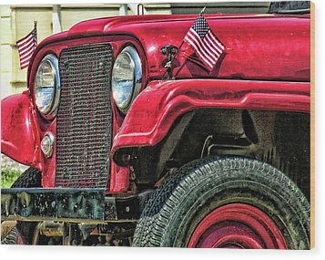 American Willys Wood Print by Adam Vance