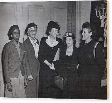 American Women Labor Leaders Wood Print by Everett