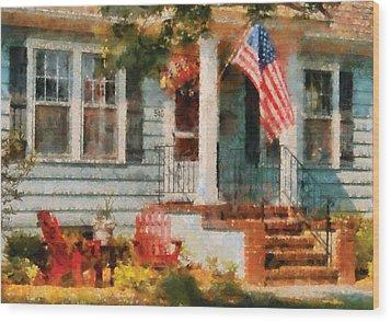 Americana - America The Beautiful Wood Print by Mike Savad