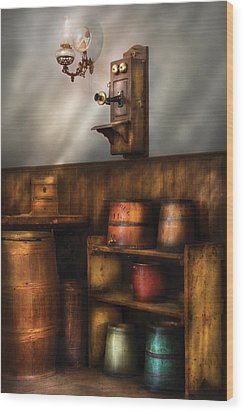 Americana -  In The Corner Of The General Store  Wood Print by Mike Savad