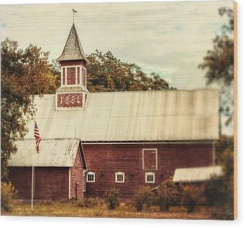 Americana Barn Wood Print by Lisa Russo