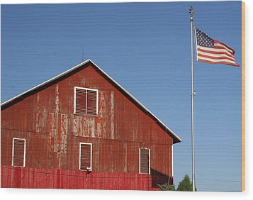 Americana Wood Print by Robert Babler
