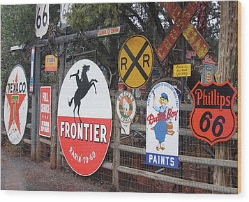 Wood Print featuring the photograph Americana Rt.66 by Elvira Butler