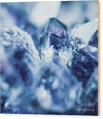 Wood Print featuring the photograph Amethyst Blue by Sharon Mau