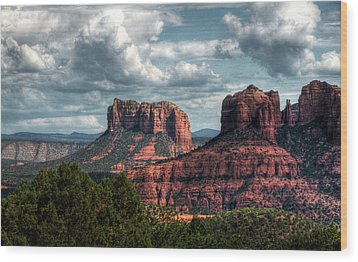 Wood Print featuring the photograph Amidst The Red Rocks  by Saija Lehtonen