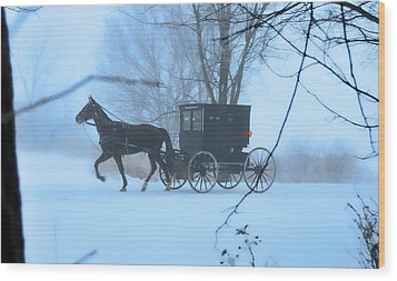 Amish Dreamscape Wood Print