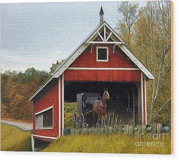 Amish Era Wood Print