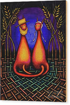 Amish Kats Wood Print by Laurie Tietjen