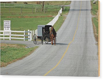 Amish Life Wood Print by Joyce Huhra