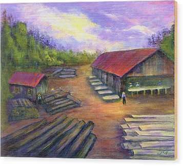 Amish Lumbermill Wood Print