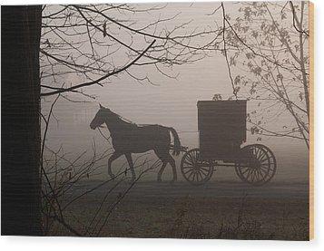 Amish Morning 1 Wood Print