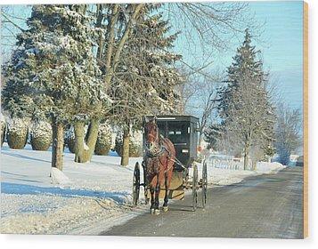 Amish Winter Wood Print