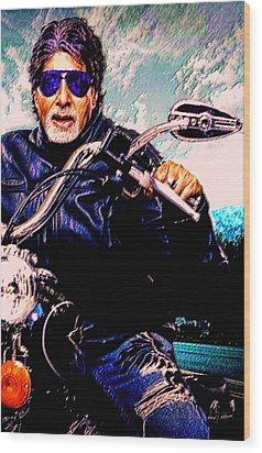 Amitabh Bachchan - Living Legend Wood Print