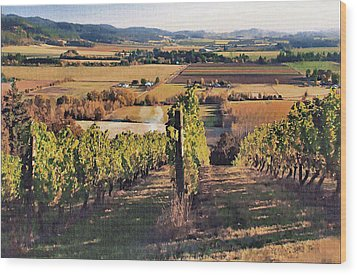 Amity Vineyard And Farmlands Wood Print