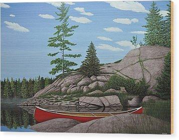 Among The Rocks II Wood Print